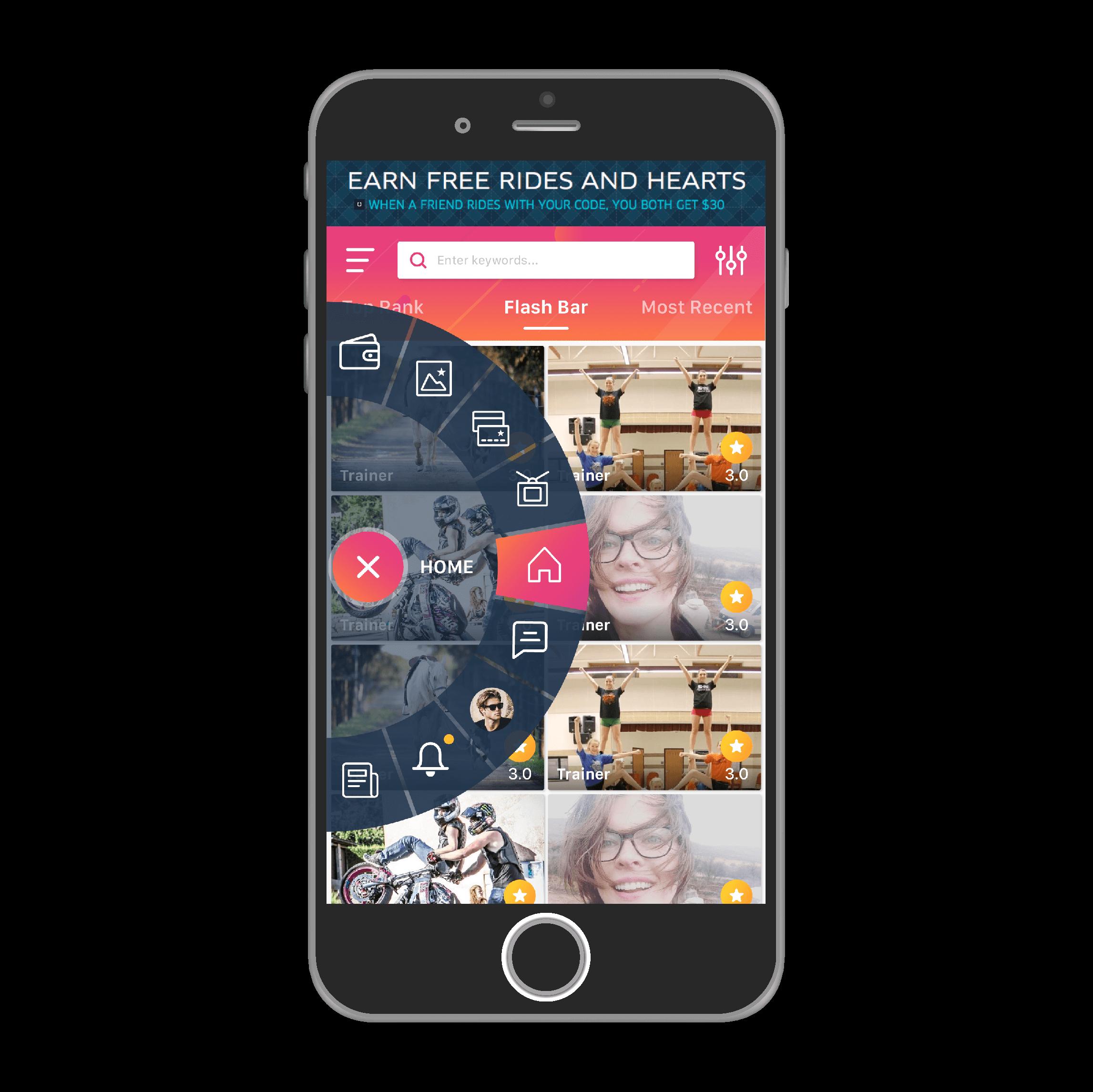 StarzMe, mobile application, web application